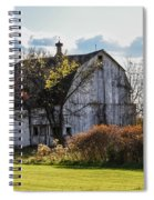 White Country Barn Spiral Notebook