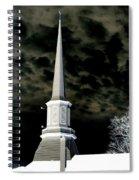 White Cross Dark Skies Spiral Notebook
