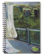 White Curtain View Spiral Notebook