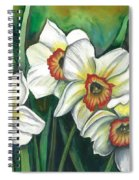 White Daffodils Spiral Notebook