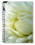 White Dahlia Flower Art Print Canvas Floral Dahlias Baslee Troutman Spiral Notebook