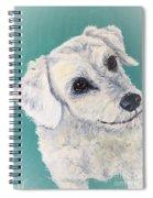 White Dog Spiral Notebook