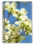 White Dogwood Flowers 1 Blue Sky Landscape Artwork Dogwood Tree Art Prints Canvas Framed Spiral Notebook