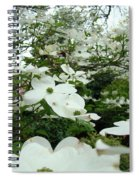 White Dogwood Flowers 6 Dogwood Tree Flowers Art Prints Baslee Troutman Spiral Notebook