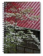 White Dogwood In The Rain Spiral Notebook