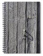 White Door Handle Spiral Notebook