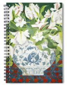 White Double Tulips And Alstroemerias Spiral Notebook