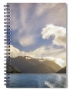 White Dragon Cloud In The Sky At Lake Manapouri Spiral Notebook