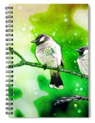 White-eared Bulbul - Watercolor Spiral Notebook
