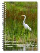 White Egret In Waiting Spiral Notebook