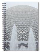 White Epcot Spiral Notebook