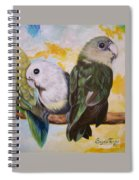 Chloe The    Flying Lamb Productions           White Faced Lovebirds Spiral Notebook