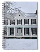 White Farm House During Winter Spiral Notebook