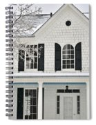 White Farm House In Winter Spiral Notebook