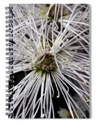 White Flora Spiral Notebook