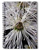 White Flora Spiral Notebook
