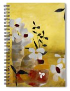 White Floral Collage II Spiral Notebook