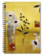 White Floral Collage Spiral Notebook