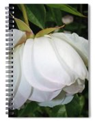 White Floral Spiral Notebook
