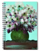 White Flowers In A Vase Spiral Notebook