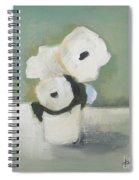 White Flowers In Vase Spiral Notebook