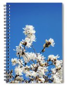 White Flowers Spiral Notebook