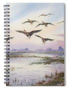 White-fronted Geese Alighting Spiral Notebook