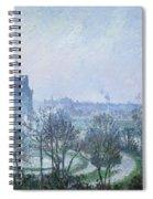 White Frost Jardin Des Tuileries Spiral Notebook