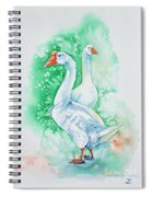 White Geese Spiral Notebook