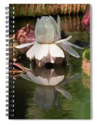 White Giant Water Lily Spiral Notebook