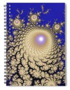 White Gold Opalescent Fractal Swirl Abstraction Spiral Notebook