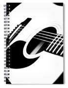 White Guitar 4 Spiral Notebook