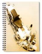 White Harley Davidson Spiral Notebook