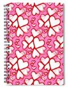 White Hearts - Valentines Pattern Spiral Notebook