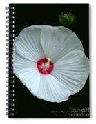 White Hibisci #18 Spiral Notebook