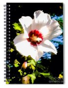 White Hibiscus High Above In Shadows Spiral Notebook