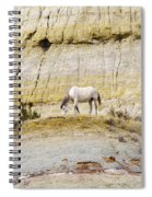 White Horse On A Mound Spiral Notebook