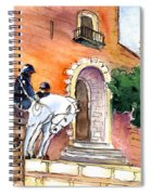 White Horses By The Cathedral In Palma De Mallorca 02 Spiral Notebook