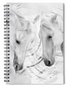 White Horses No 01 Spiral Notebook
