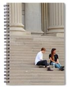 Hanging Out On Steps Spiral Notebook