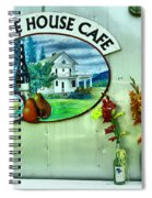 White House Cafe Spiral Notebook