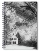 White House In Winter Spiral Notebook