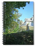 White House With Hillside Shade Spiral Notebook