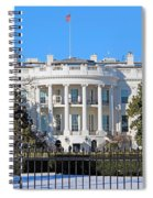 White House South Lawn With Snow Spiral Notebook