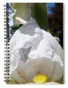 White Iris Flower Art Prints Canvas Irises Artwork Spiral Notebook