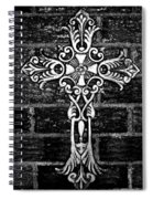 White Iron Cross Bw Spiral Notebook
