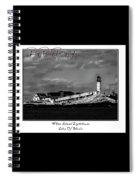White Island Lighthouse Spiral Notebook