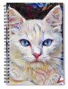 White Kitten With Blue Eyes Spiral Notebook