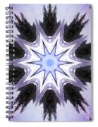 White-lilac-black Flower. Digital Art Spiral Notebook