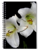 White Lilies Spiral Notebook